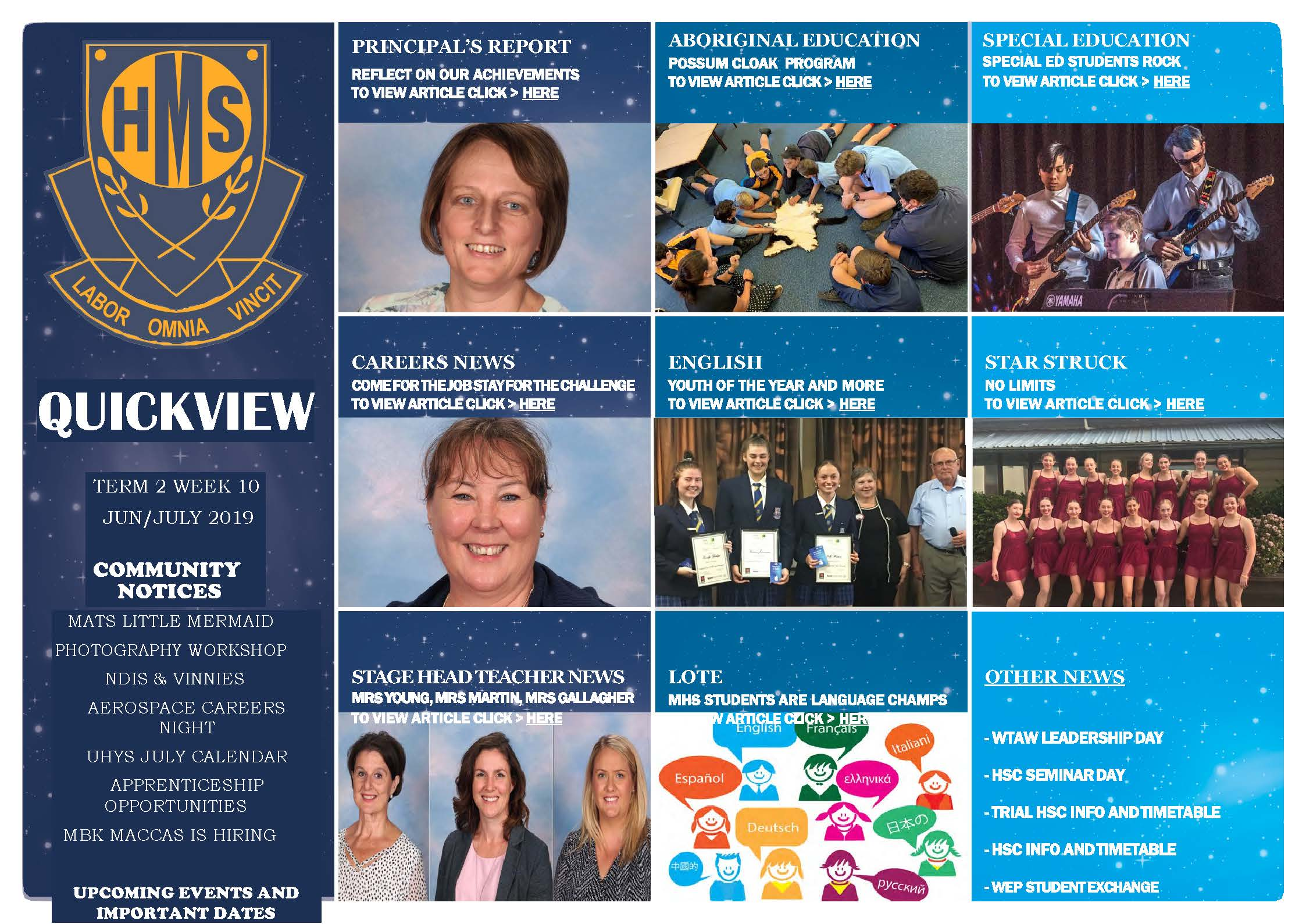 Cover page of MHS Newsletter No 4 July 2019