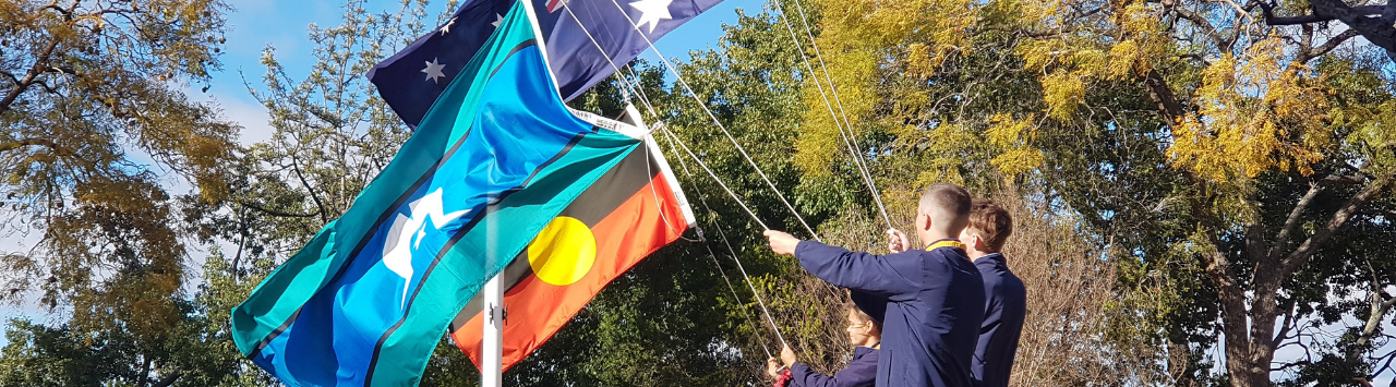 Raising of the flags